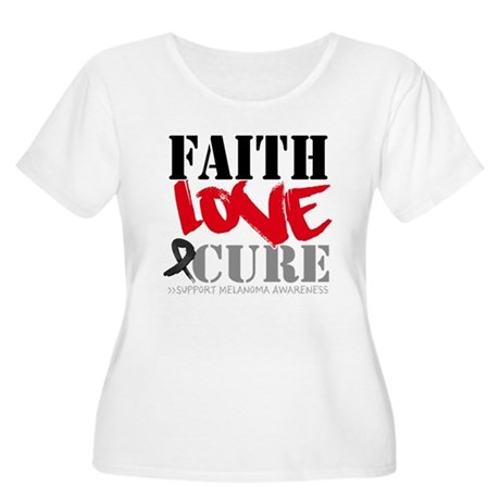 Faith Love Cure Melanoma Women's Plus Size Scoop N