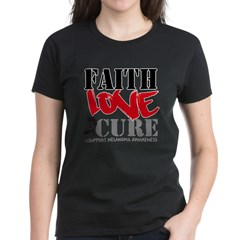 Faith Love Cure Melanoma Women's Dark T-Shirt