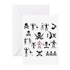 PIRATE MONTAGE Greeting Cards (Pk of 20)