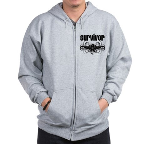 Melanoma Cancer Survivor Zip Hoodie