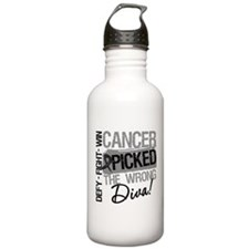 Cancer Wrong Diva Melanoma Water Bottle