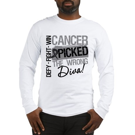 Cancer Wrong Diva Melanoma Long Sleeve T-Shirt