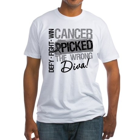 Cancer Wrong Diva Melanoma Fitted T-Shirt
