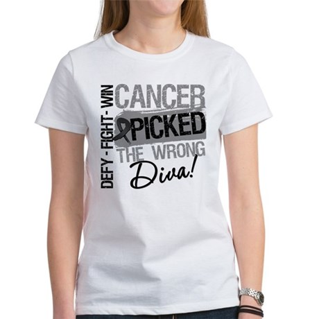 Cancer Wrong Diva Melanoma Women's T-Shirt