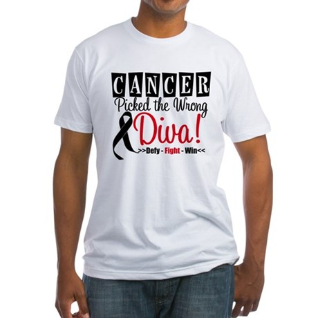 Wrong Diva Melanoma Fitted T-Shirt