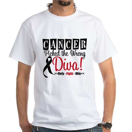 Wrong Diva Melanoma White T-Shirt