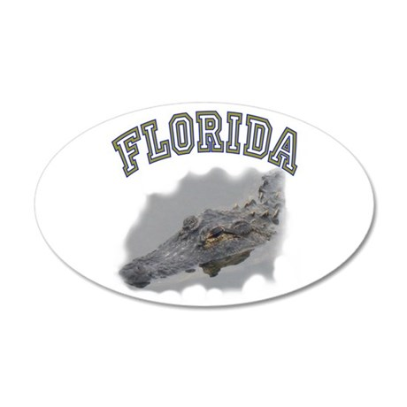 Florida Alligator 22x14 Oval Wall Peel