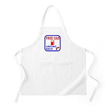 Free Gas Around Back Shirt T- Apron