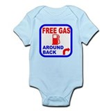 Free Gas Around Back Shirt T- Onesie