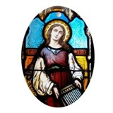 St Cecilia Ornament (Oval)