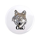 The Cherokee Wolf 3.5&quot; Button (100 pack)