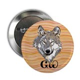 "The Cherokee Wolf 2.25"" Button (100 pack)"