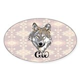 The Cherokee Wolf Decal