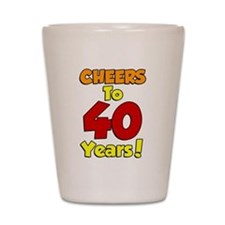 Cheers to 40 Years Shot Glass