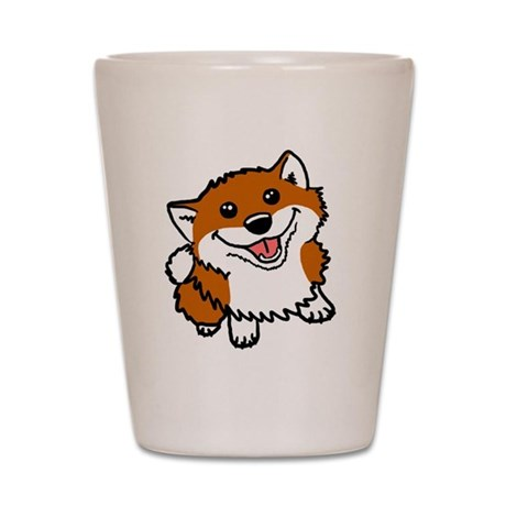 Happy Little Shiba Shot Glass