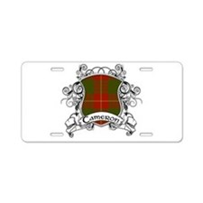 Cameron Tartan Shield Aluminum License Plate