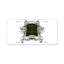 Gunn Tartan Shield Aluminum License Plate