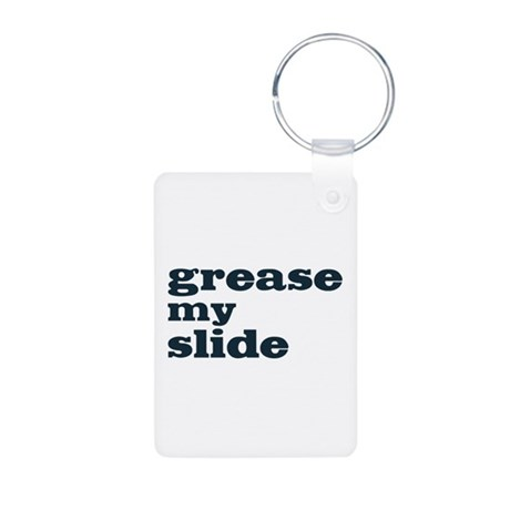 Grease My Slide Aluminum Photo Keychain