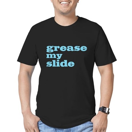 Grease My Slide Men's Fitted T-Shirt (dark)