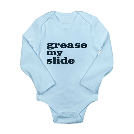 Grease My Slide Long Sleeve Infant Bodysuit