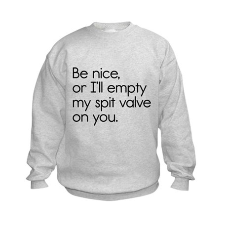 Spit Valve Kids Sweatshirt