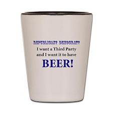 Vote Beer Shot Glass