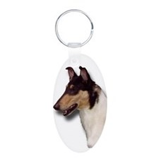 Collie_Place Aluminum Oval Keychain