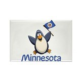 Minnesota Penguin Rectangle Magnet (100 pack)
