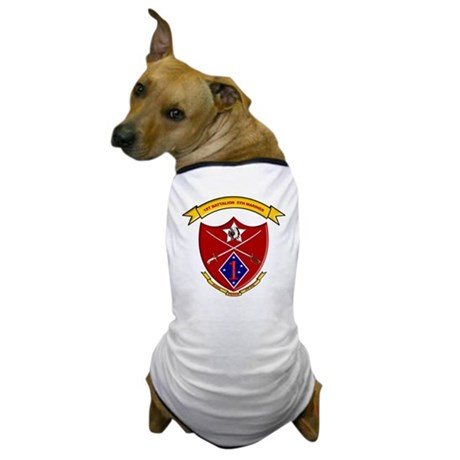1st Battalion 5th Marines Dog T-Shirt