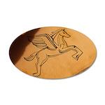 Chasing Pegasus 22x14 Oval Wall Peel