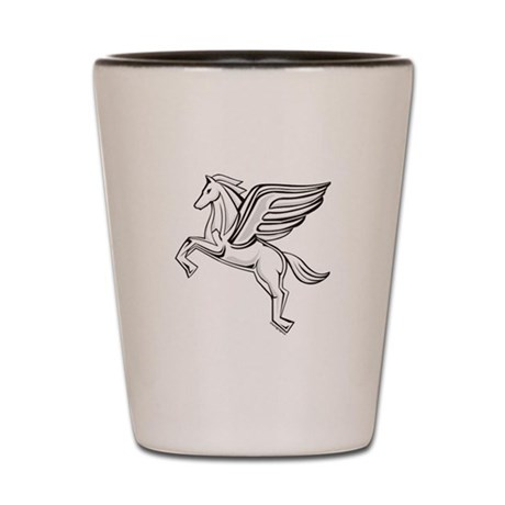 Chasing Pegasus Shot Glass