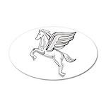 Chasing Pegasus 38.5 x 24.5 Oval Wall Peel