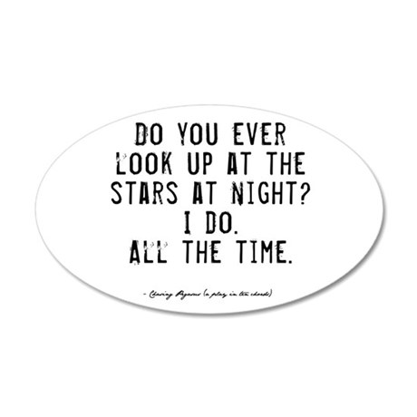 Stars Quote 38.5 x 24.5 Oval Wall Peel