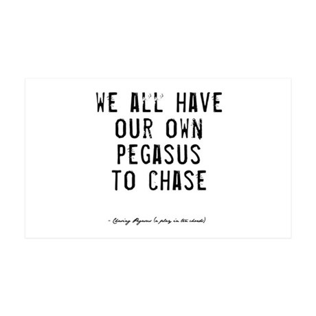 Pegasus Quote 38.5 x 24.5 Wall Peel