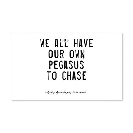 Pegasus Quote 22x14 Wall Peel