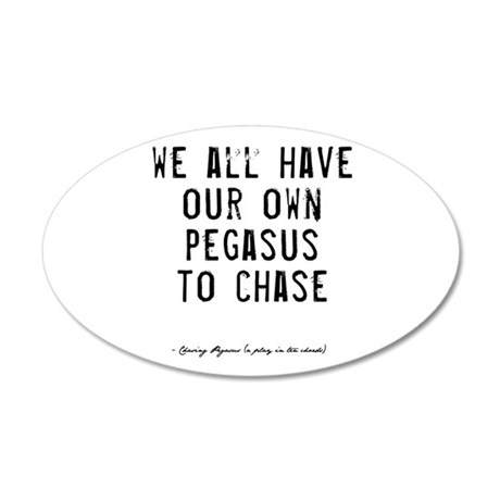 Pegasus Quote 38.5 x 24.5 Oval Wall Peel