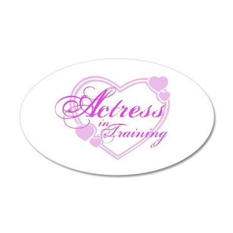 Actress-In-Training Design I 22x14 Oval Wall Peel