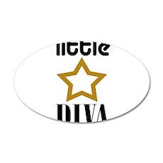 Little Diva 22x14 Oval Wall Peel