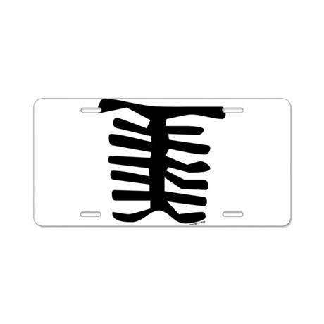 Skeleton Aluminum License Plate