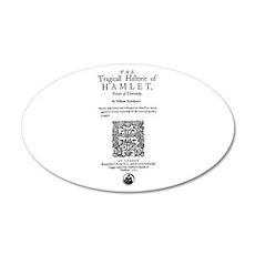 Hamlet Quarto (1605) 20x12 Oval Wall Decal