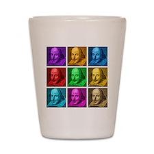 Shakespeare Pop Art Shot Glass
