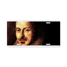 Shakespeare Portrait Aluminum License Plate