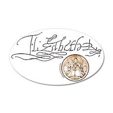 Elizabeth I Signature 22x14 Oval Wall Peel