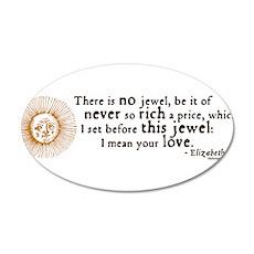 Elizabeth Love Quote 22x14 Oval Wall Peel