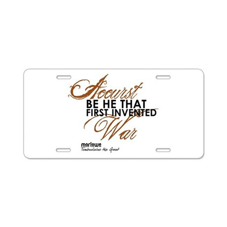 Tamburlaine Aluminum License Plate