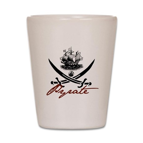 Elizabethan Pyrate Insignia Shot Glass