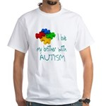 I love my brother with autism White T-Shirt