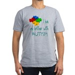 I love my brother with autism Men's Fitted T-Shirt