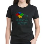 I love my brother with autism Women's Dark T-Shirt