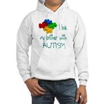I love my brother with autism Hooded Sweatshirt
